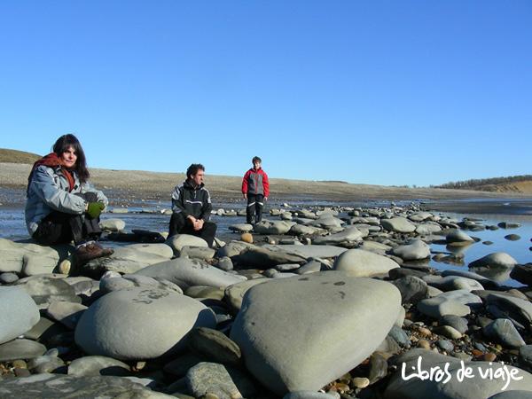 Una playa en Tierra del Fuego.